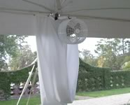 Tent Fan Rentals in the Victoria Texas area.