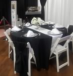 Linen and chair covers Rentals in the Victoria Texas area.