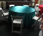 Round Tables - 24 inch, 36 inch, 48 inch, and 60 inch Rentals in the Victoria Texas area.