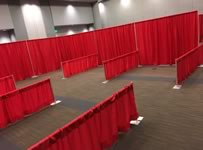 Pipe and drape Partition Rentals in the Victoria Texas area.