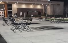 Black Resin Folding Chair Rentals in the Victoria Texas area.