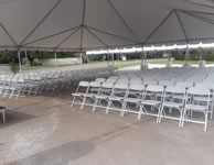 White Poly Folding Chair Rentals in the Victoria Texas area.
