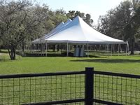 40 x 80 High Peak Pole Tent Rentals in the Victoria Texas area.