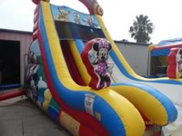 Mickey Mouse Water Slide with pool Rentals in the Victoria Texas area.