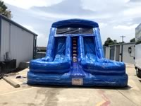 Blue Marble Double Lane Water Slide Rentals in the Victoria Texas area.